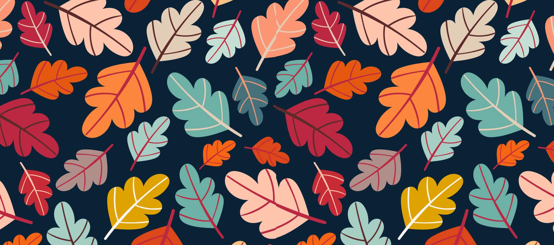 illustration of fall leafs
