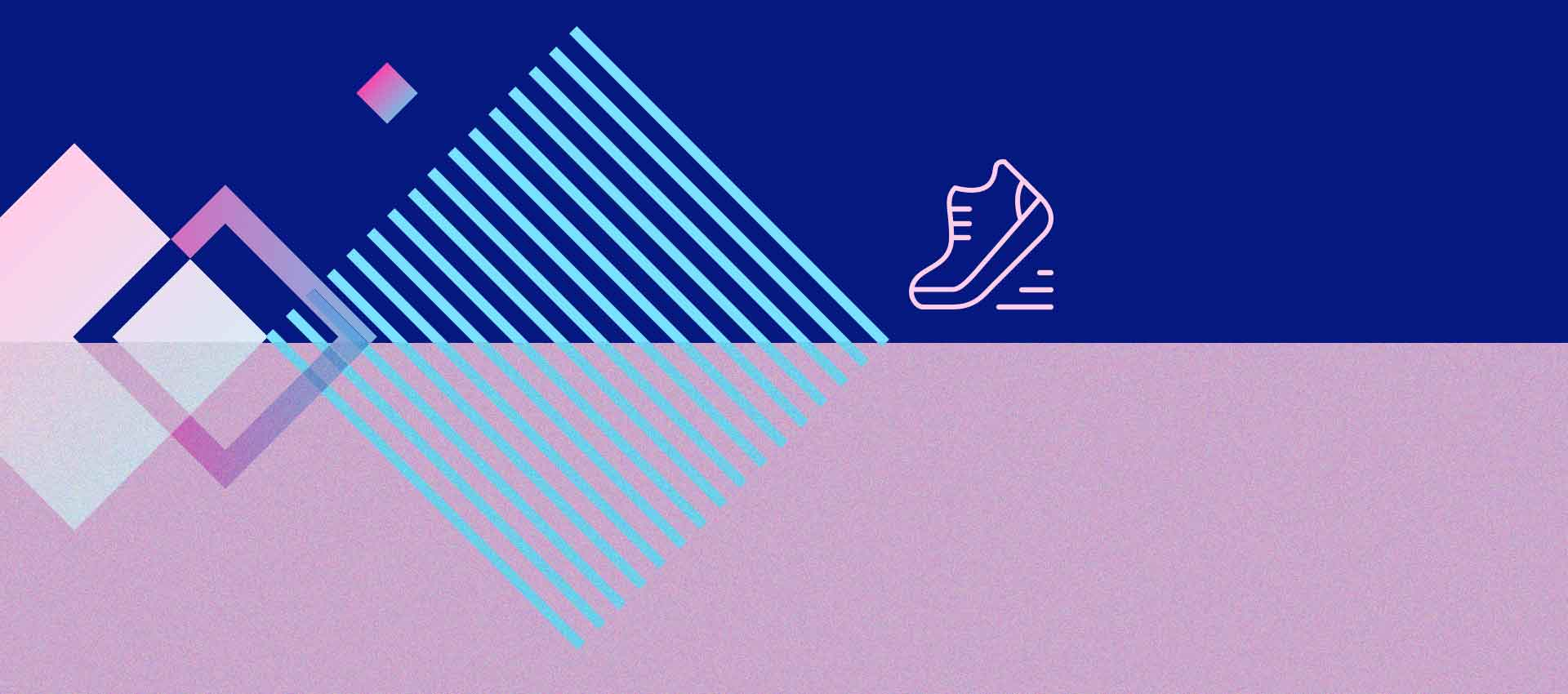 abstract background image with running shoe