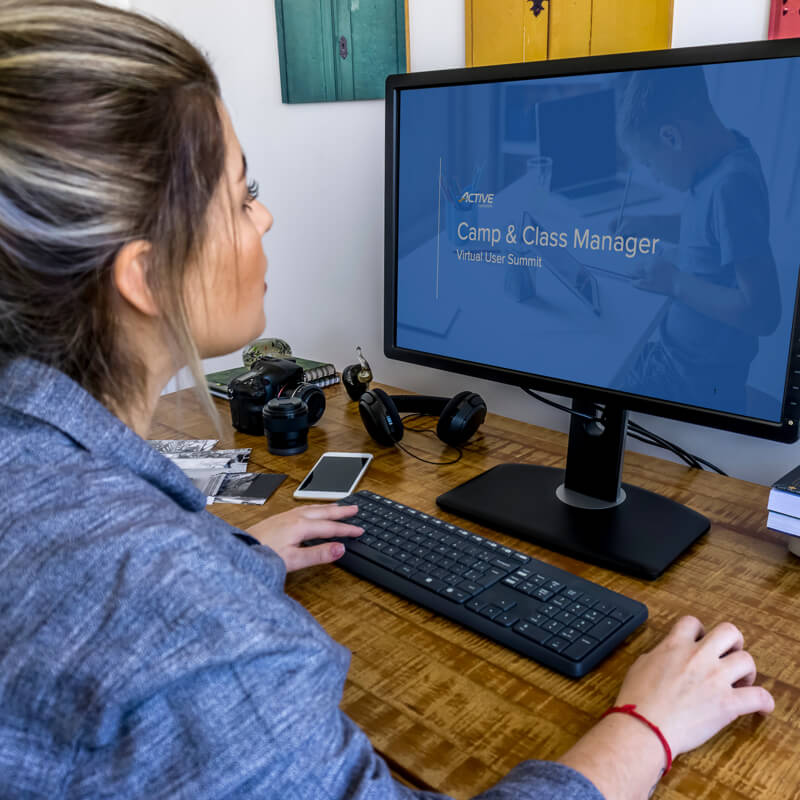 women attending virtual user summit webinar hosted by active network