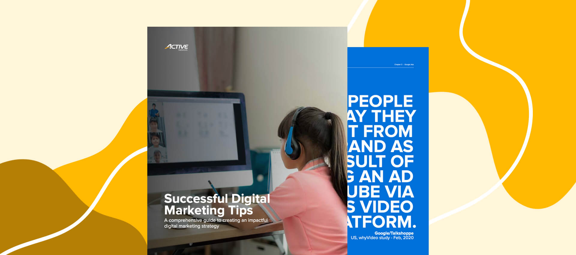 mockup of the active network successful digital marketing tips ebook