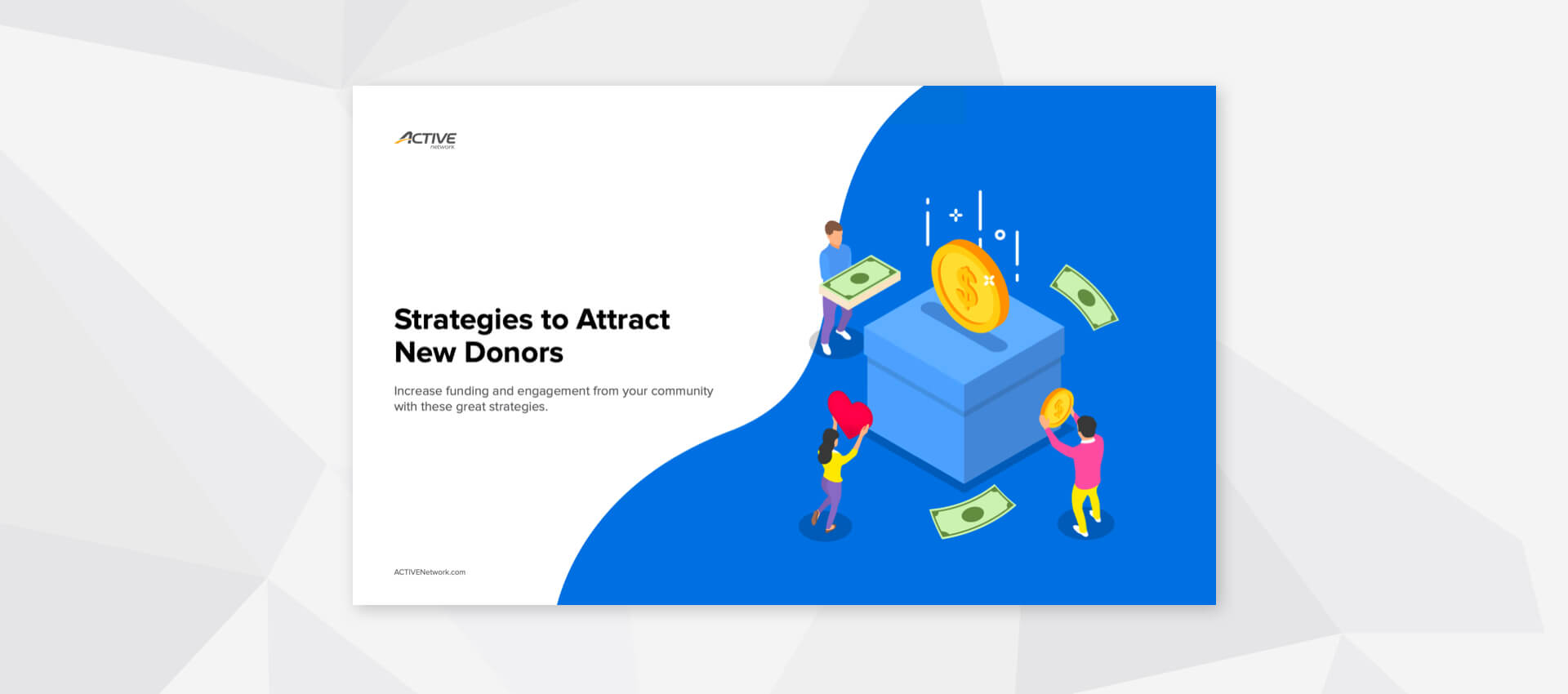 Front cover of the strategies to attract new donors content download