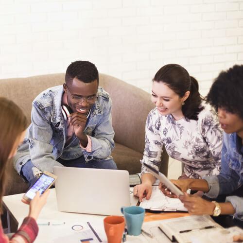 women watching active network webinar about staff appreciation