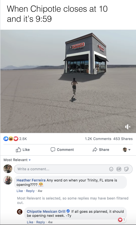 Chipotle Facebook