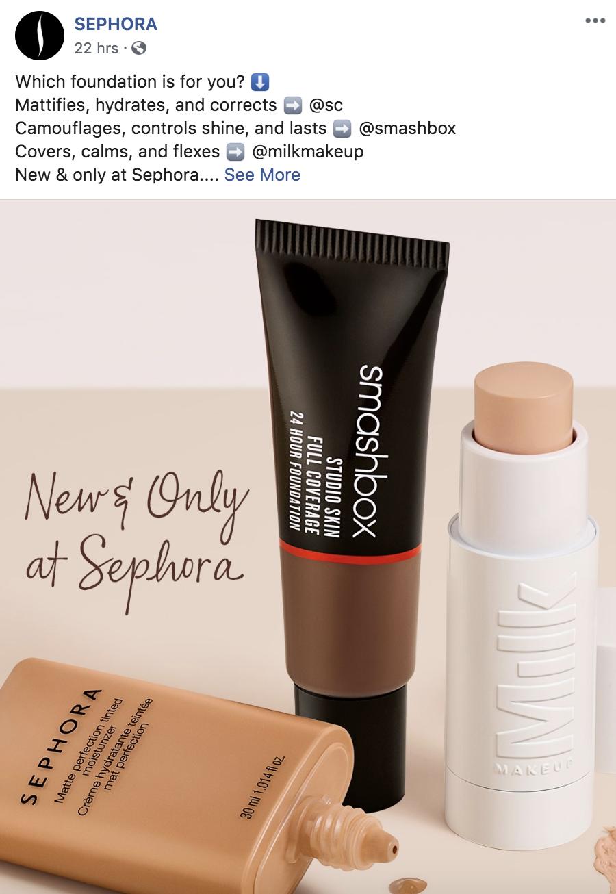 Sephora Facebook Post