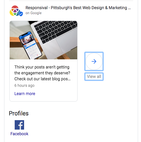 Responsival google posts