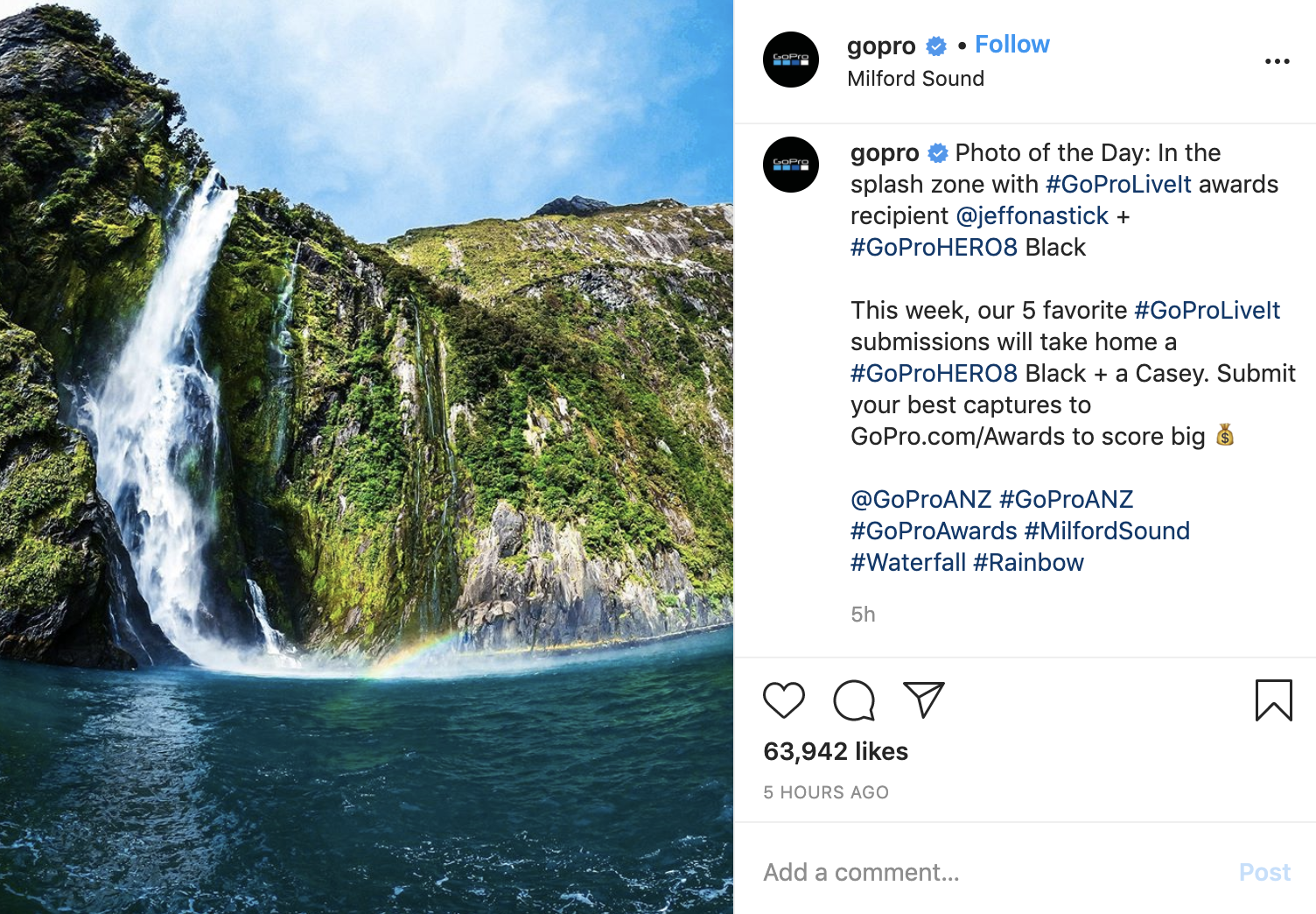gopro instagram post