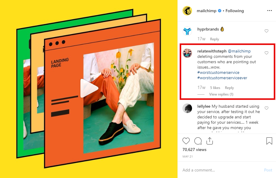 Mailchimp Facebook post