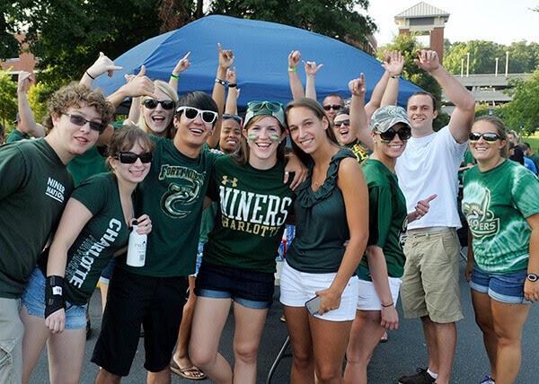 University of North Carolina Charlotte students, photo via uncc.edu