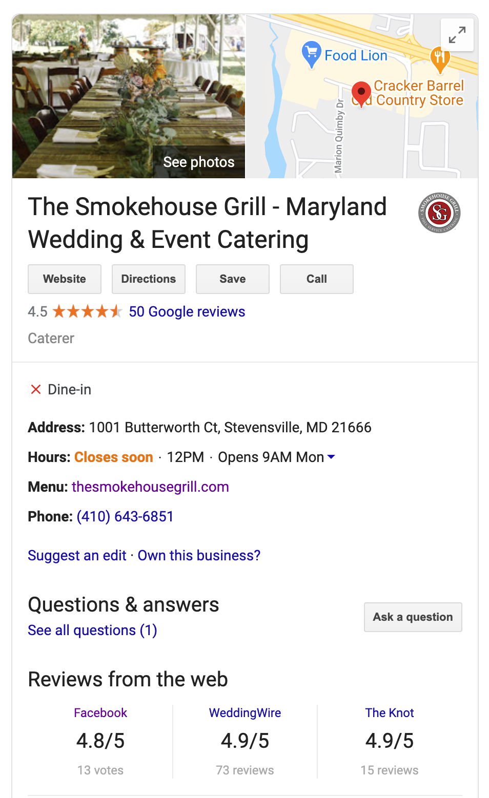 The Smokehouse Grill GBL