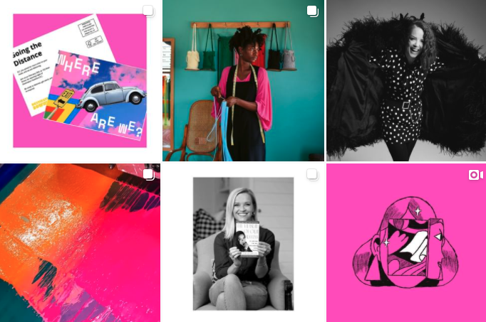 colorful grid of mailchimp instagram page