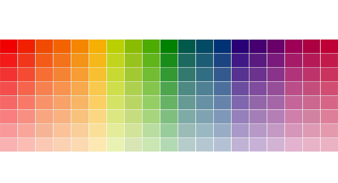 colors and hues of the rainbow diagram