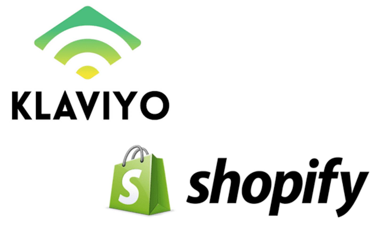 Klaviyo and Shopify logos