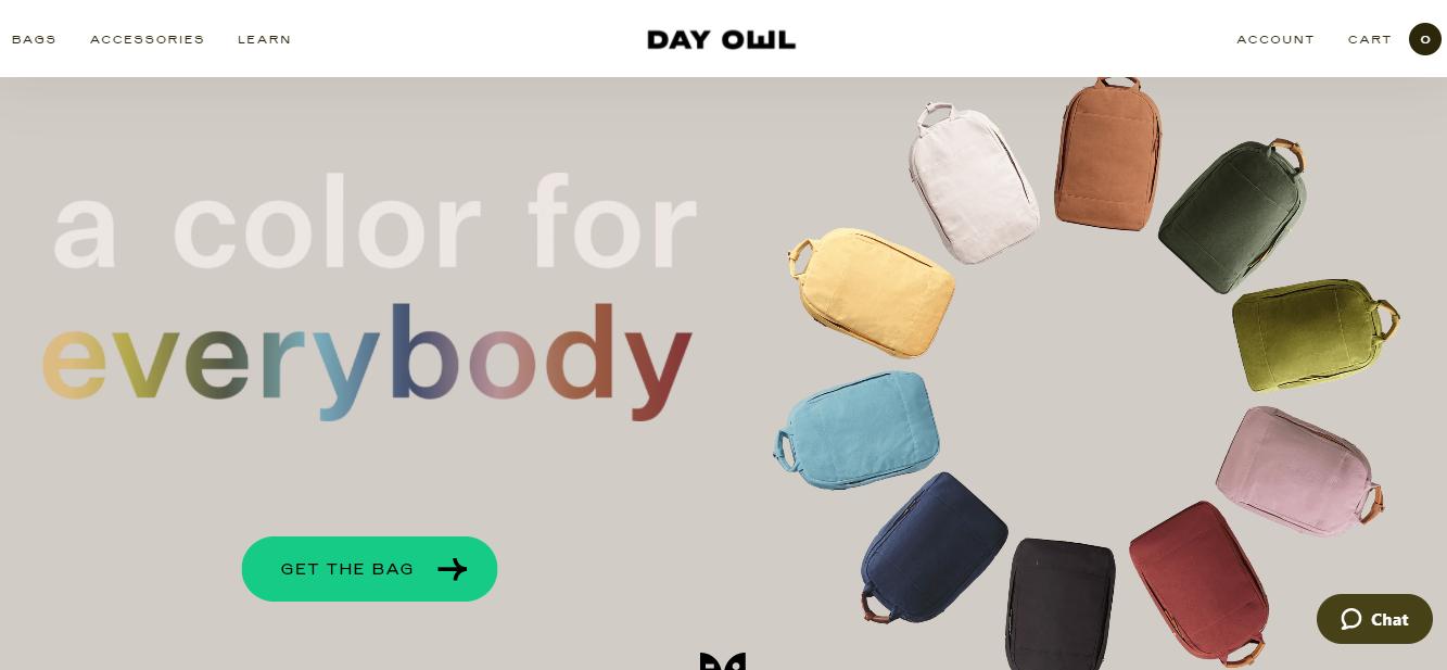 screenshot of the dayowl.com homepage
