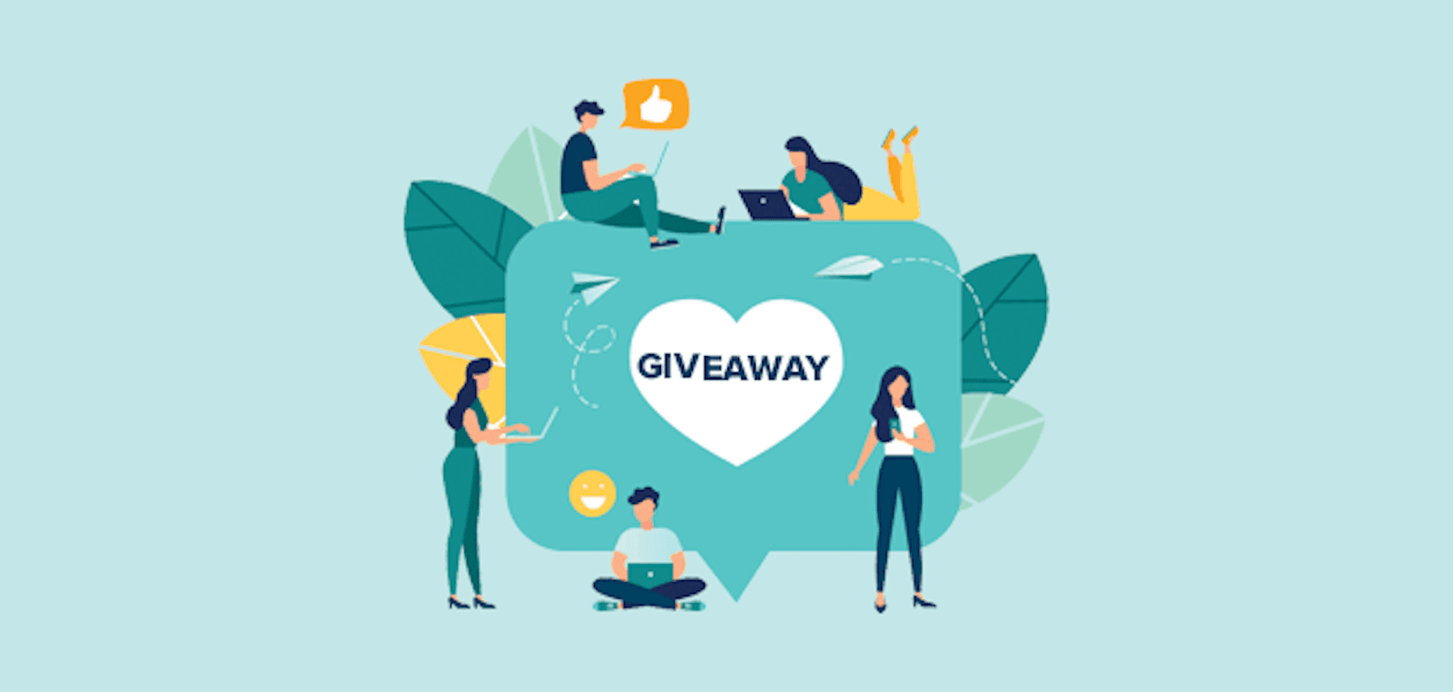 graphic depicting consumers are entering a social media giveaway