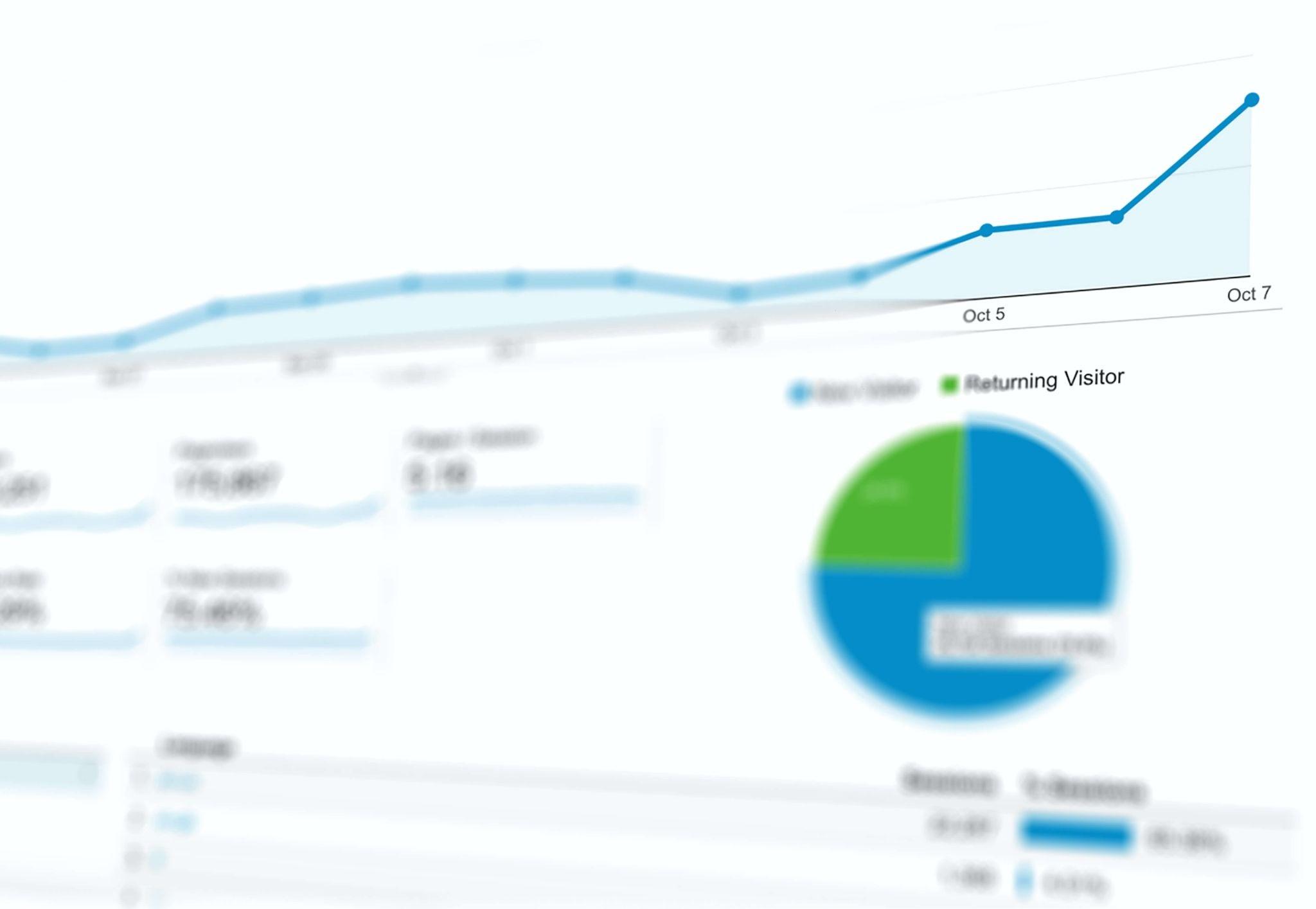 Blurred Google Analytics screen