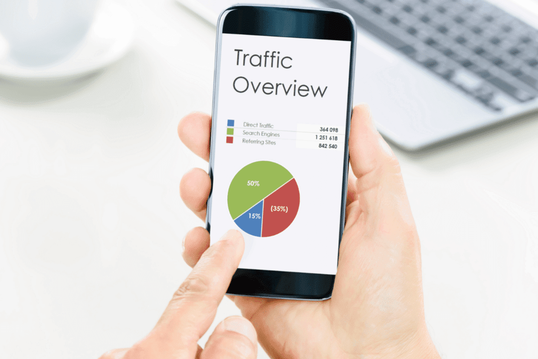 smartphone looking at digital marketing google data