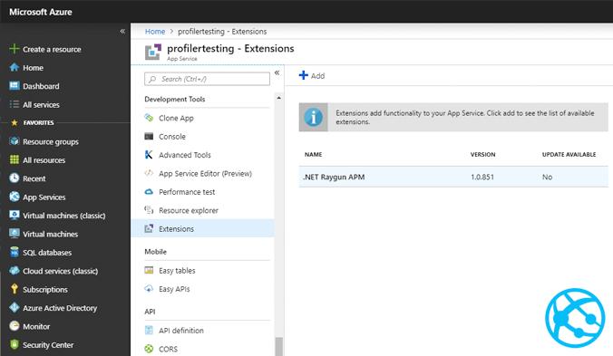 Azure APM Tool Configuration