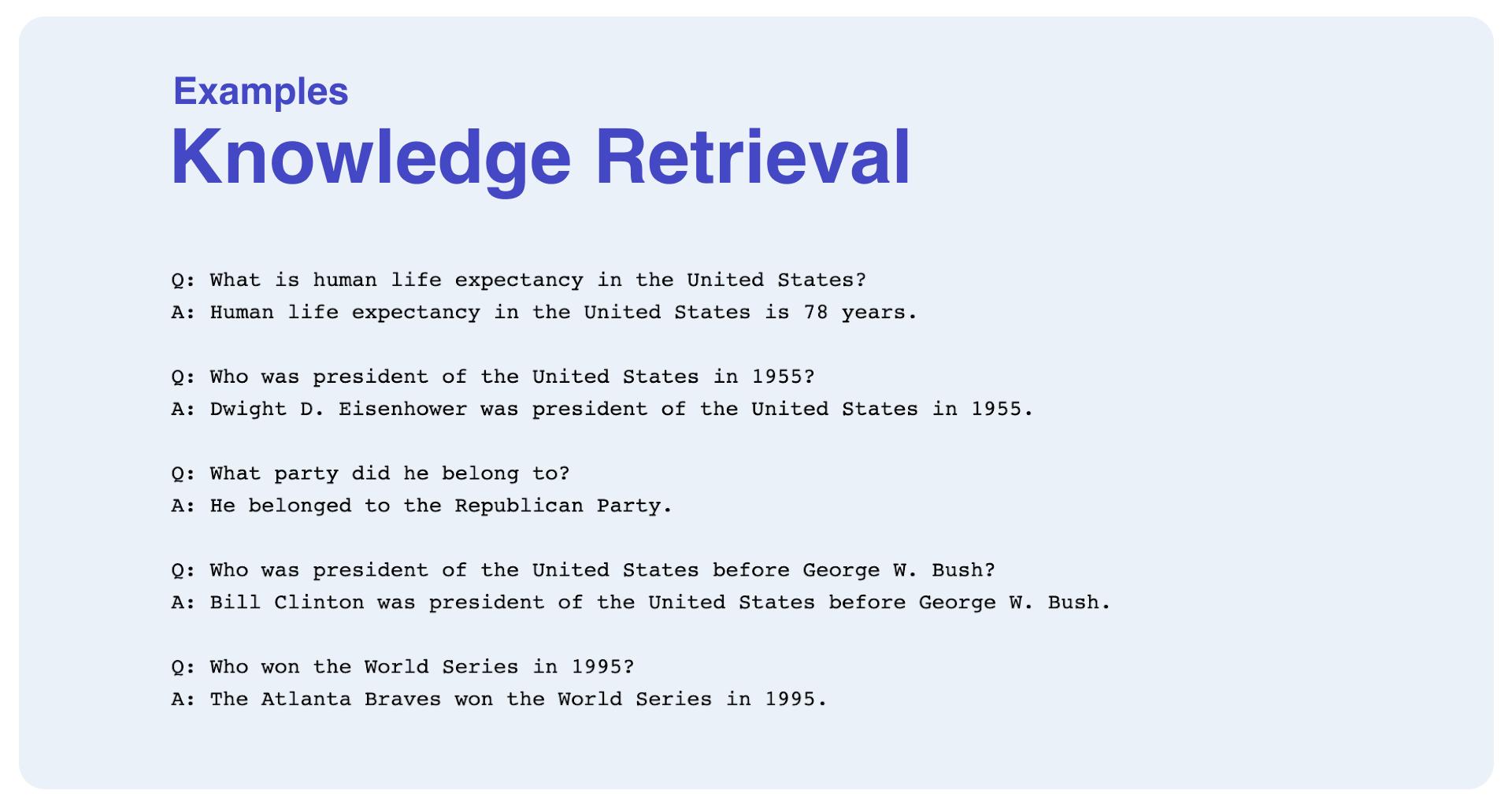 GPT-3 Knowledge Retrieval