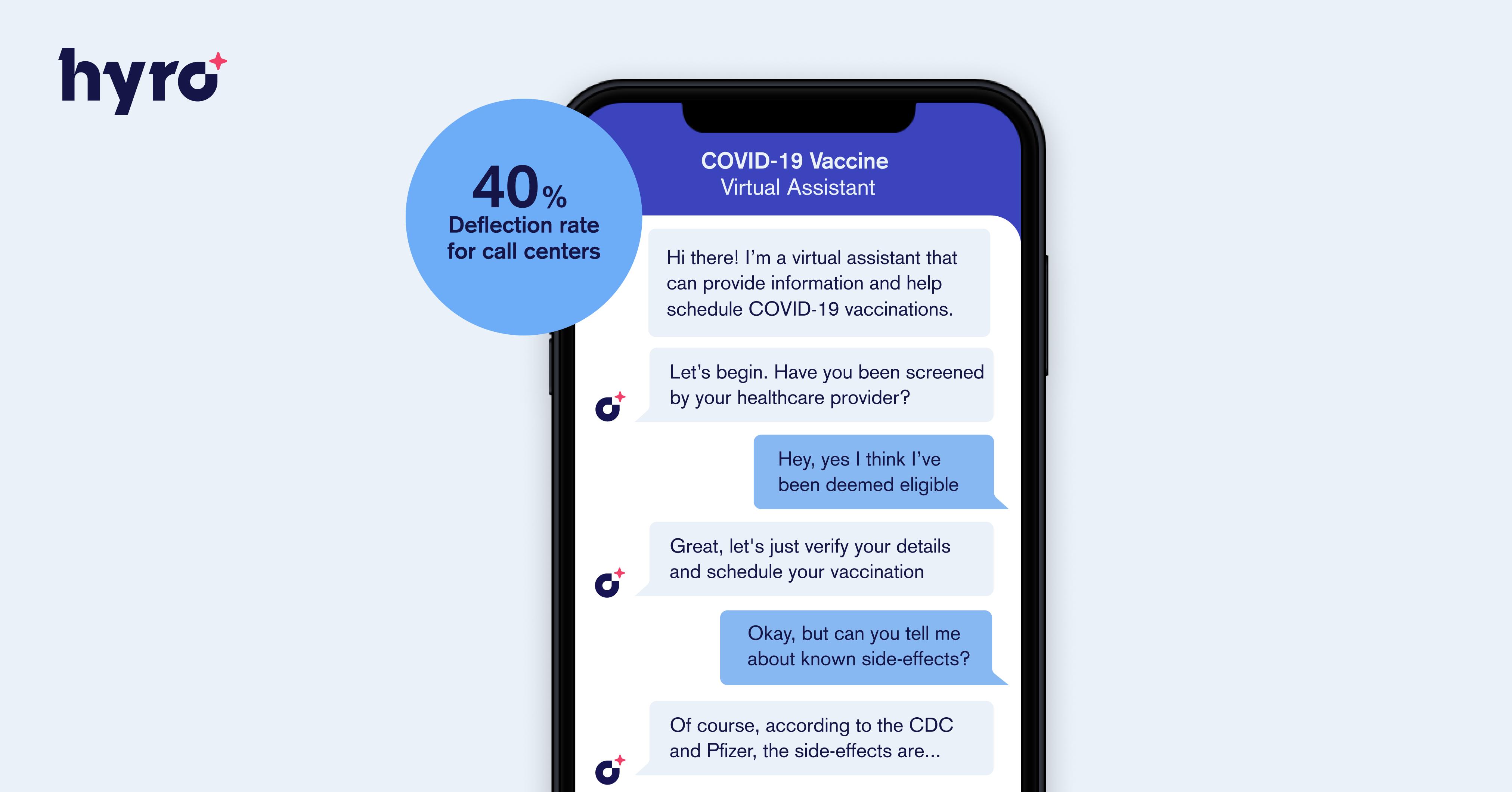 Hyro's VAXA COVID-19 Vaccine Access Solution