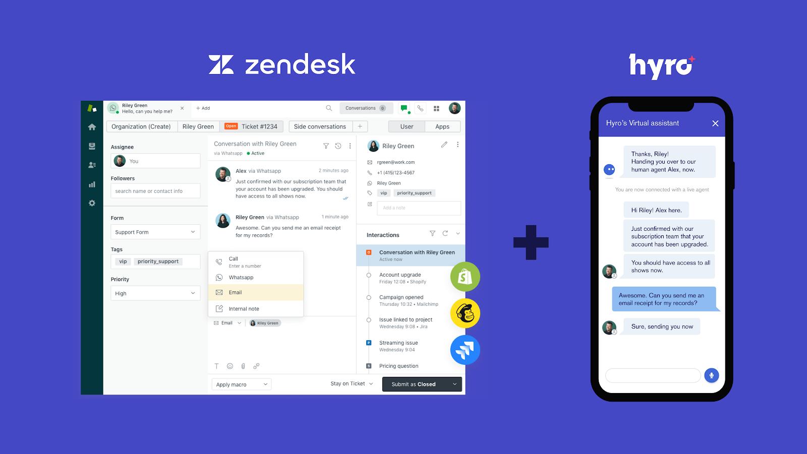 Hyro and Zendesk now fully integratable
