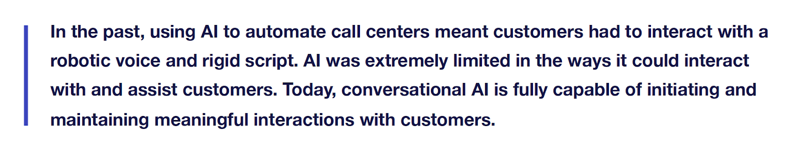 Excerpt from The Ultimate Guide to Implementing Conversational AI Within Your Organization