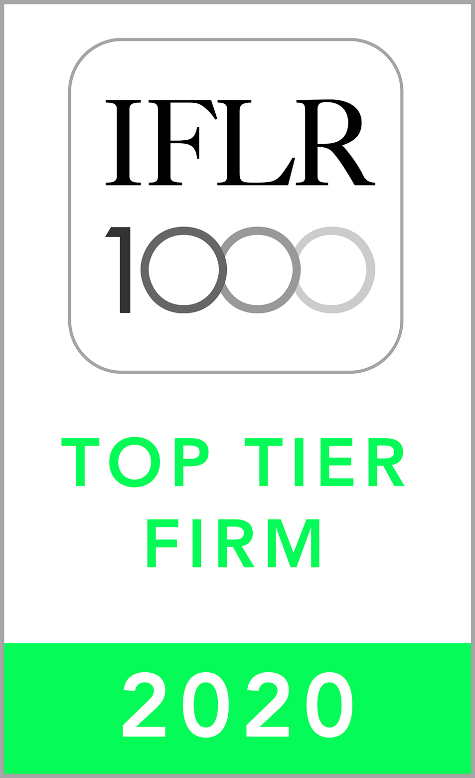 BBA//FJELDCO  is top ranked with IFLR1000