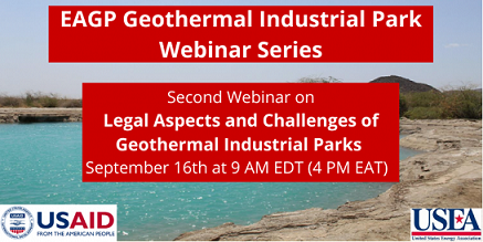 Webinar on Legal Aspects and Challenges of Geothermal Industrial Parks