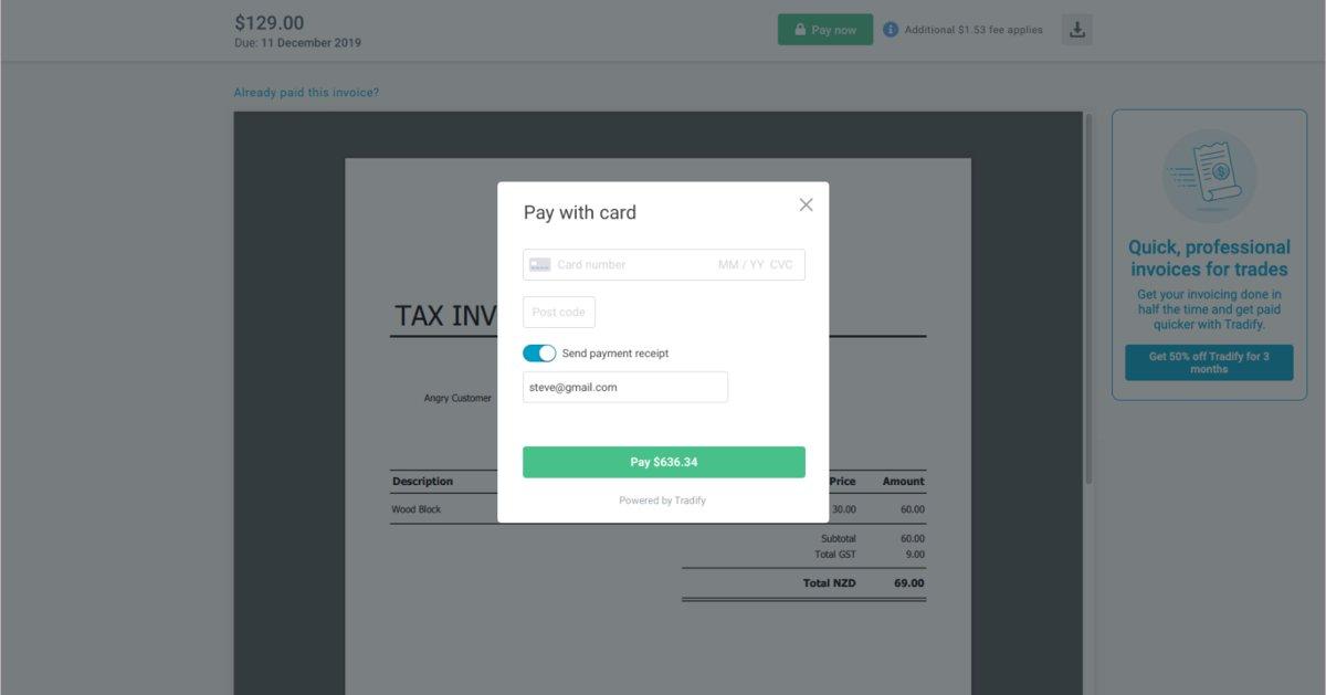 Online CC Payments