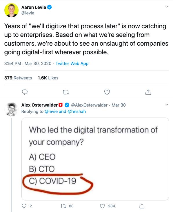 Remote Teams Tweet thread Aaron Levie Alex Osterwalder