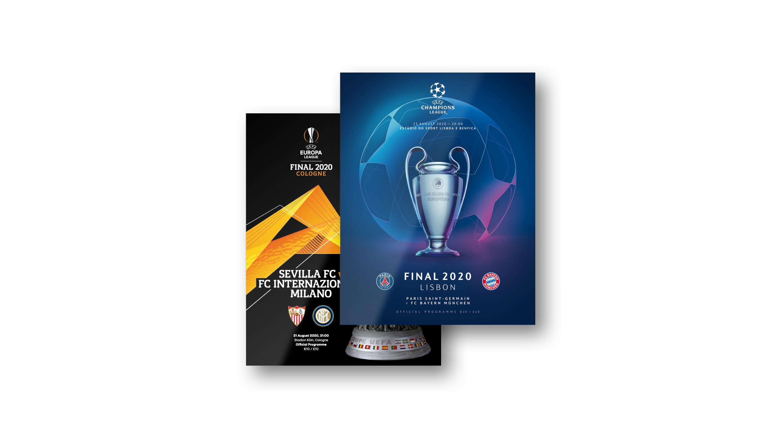 uefa champions league europa league final programmes 2020 european nights uefa champions league europa league