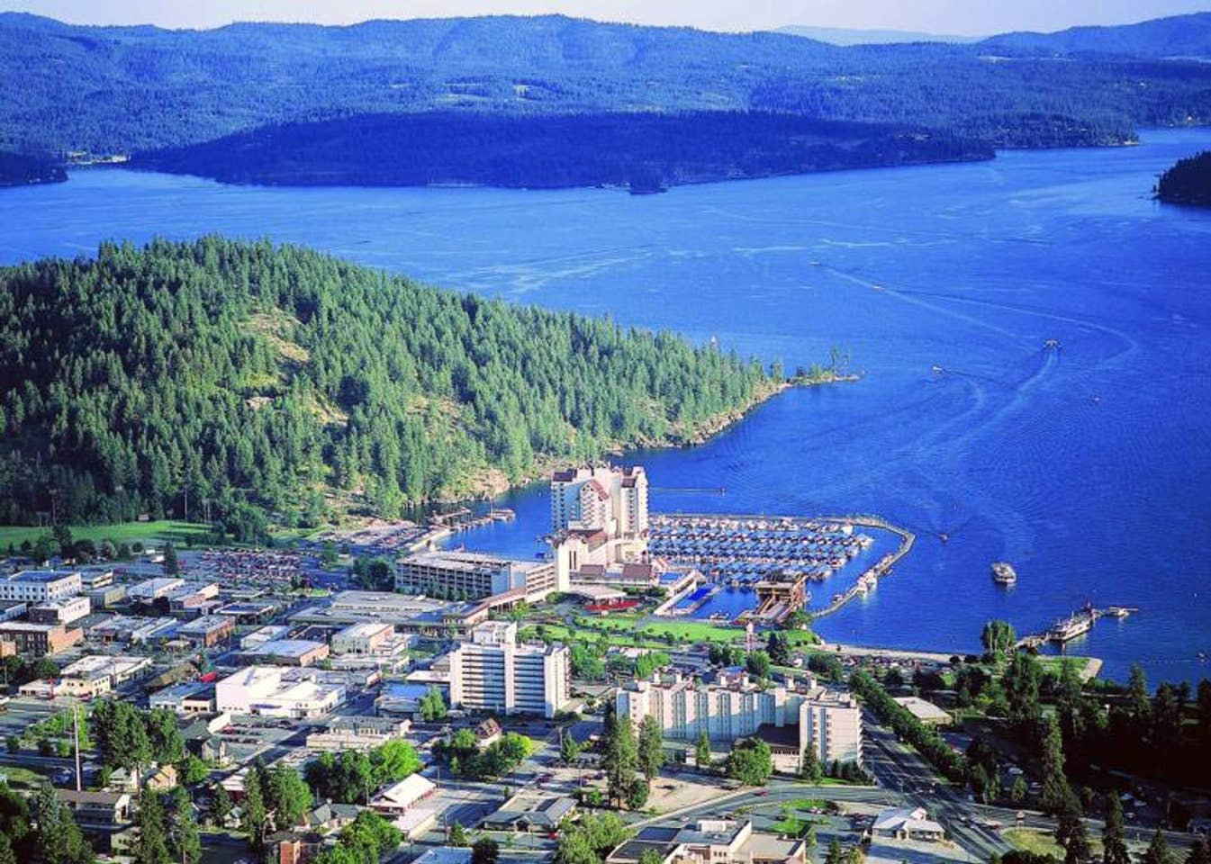 Arial view of Coeur d' alene Idaho