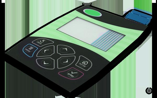 Image of a membrane switch keypad device.