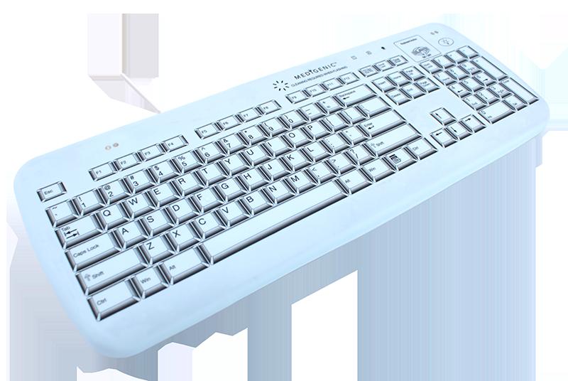 Full-size self-monitoring version, sealed, washable keyboard
