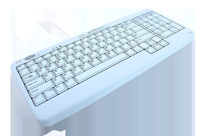 Cart size self-monitoring version, sealed, washable keyboard