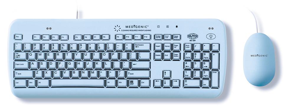 Medigenic washable keyboard and mouse.