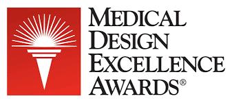 Medical design excellence awards logo.