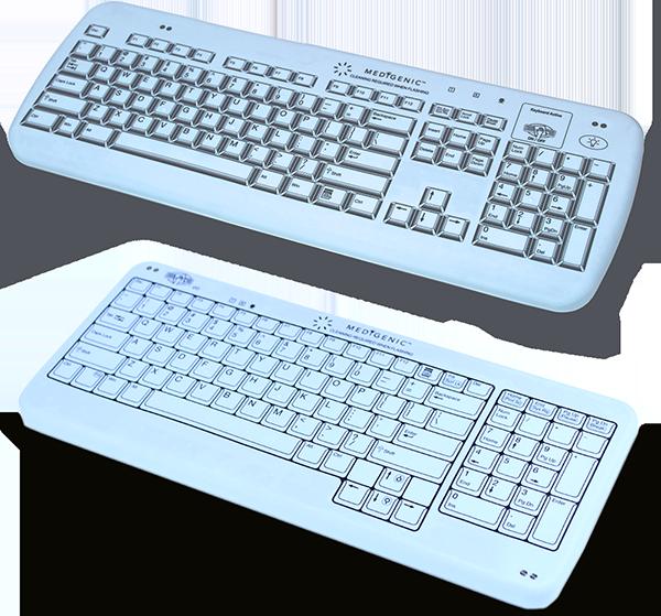 Two models of the Medigenic compliance keyboards