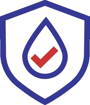Waterproof keyboard icon.