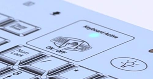 Alarm LED on the Medigenic keyboard