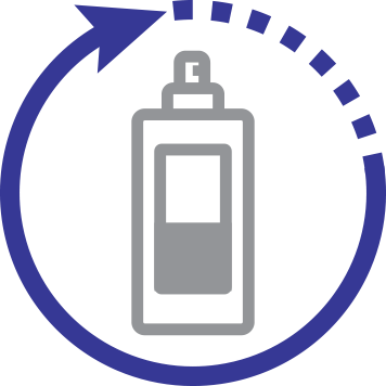 Cleaning solution icon.
