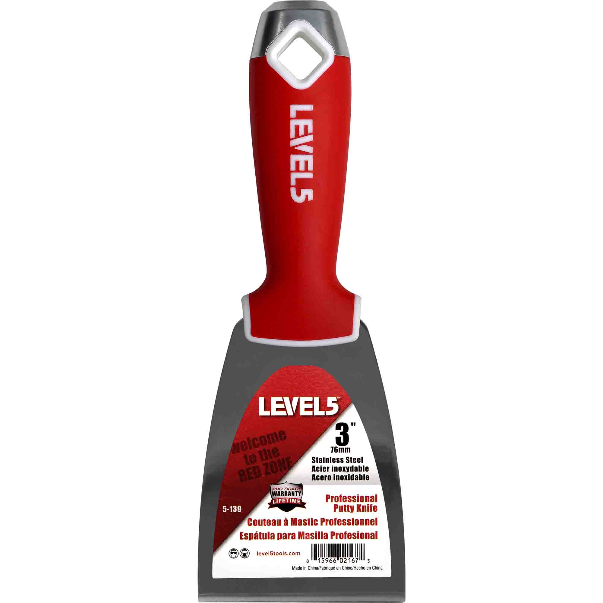 A 3-Inch Level 5 Tools Stainless Steel Drywall Joint Knife
