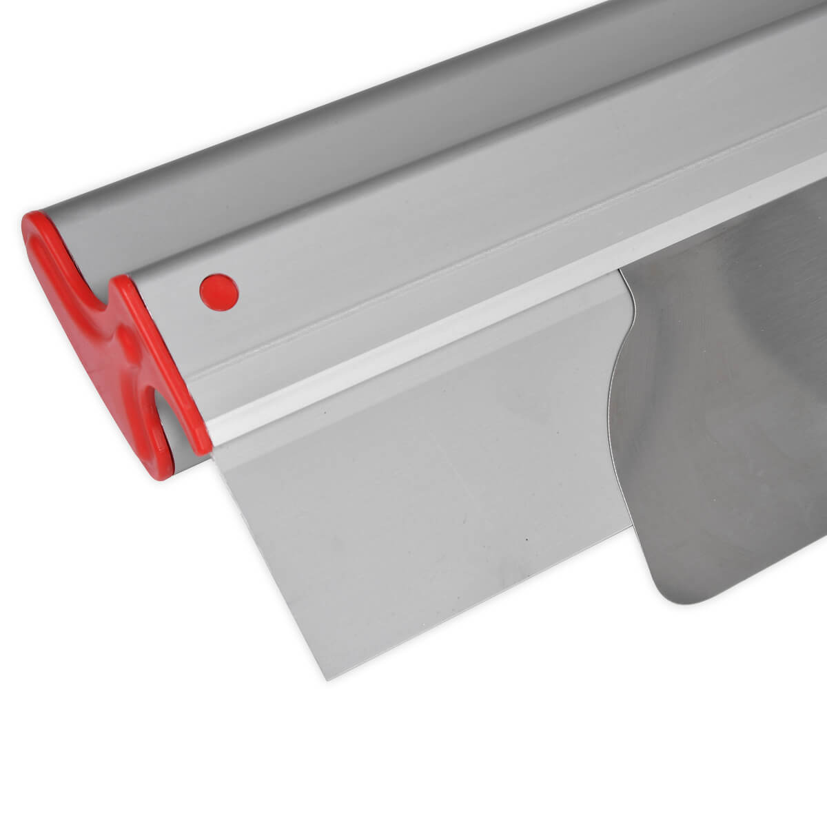 "LEVEL5 24"" drywall smoothing blades feature a replaceable 0.3mm precision stainless steel insert."