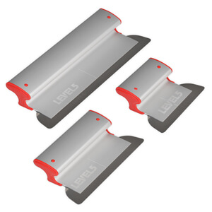 LEVEL5 Drywall Skimming Blade Set | 7/10/16 Inch Blades | 5-442