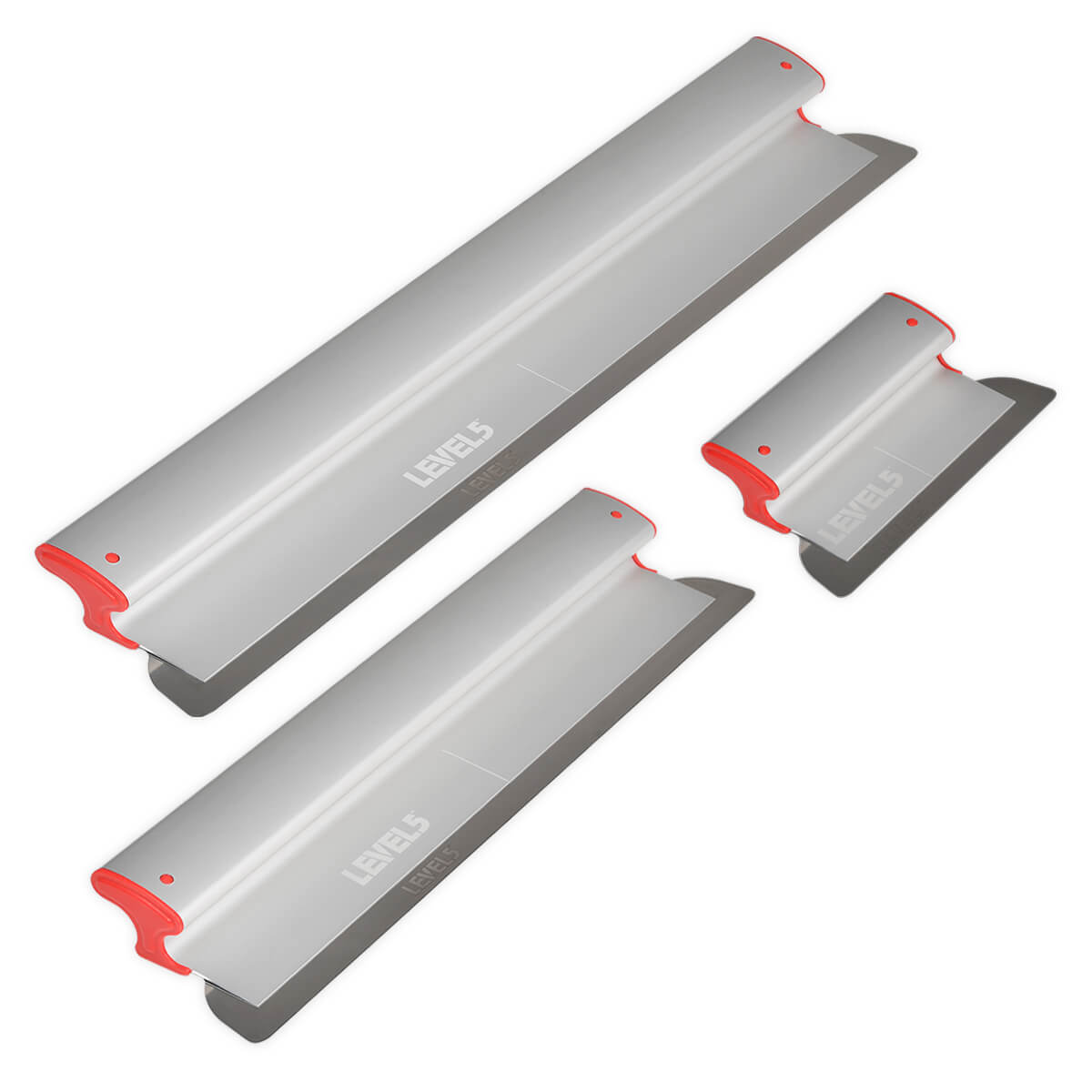 LEVEL5 Drywall Skimming Blade Set | 10/24/32 Inch Blades | 5-444