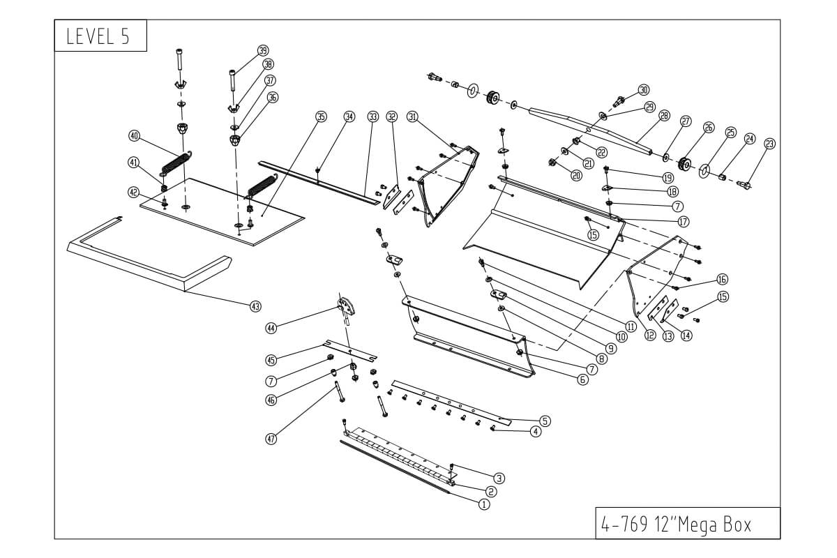 LEVEL5 12-Inch MEGA Capacity Flat Box