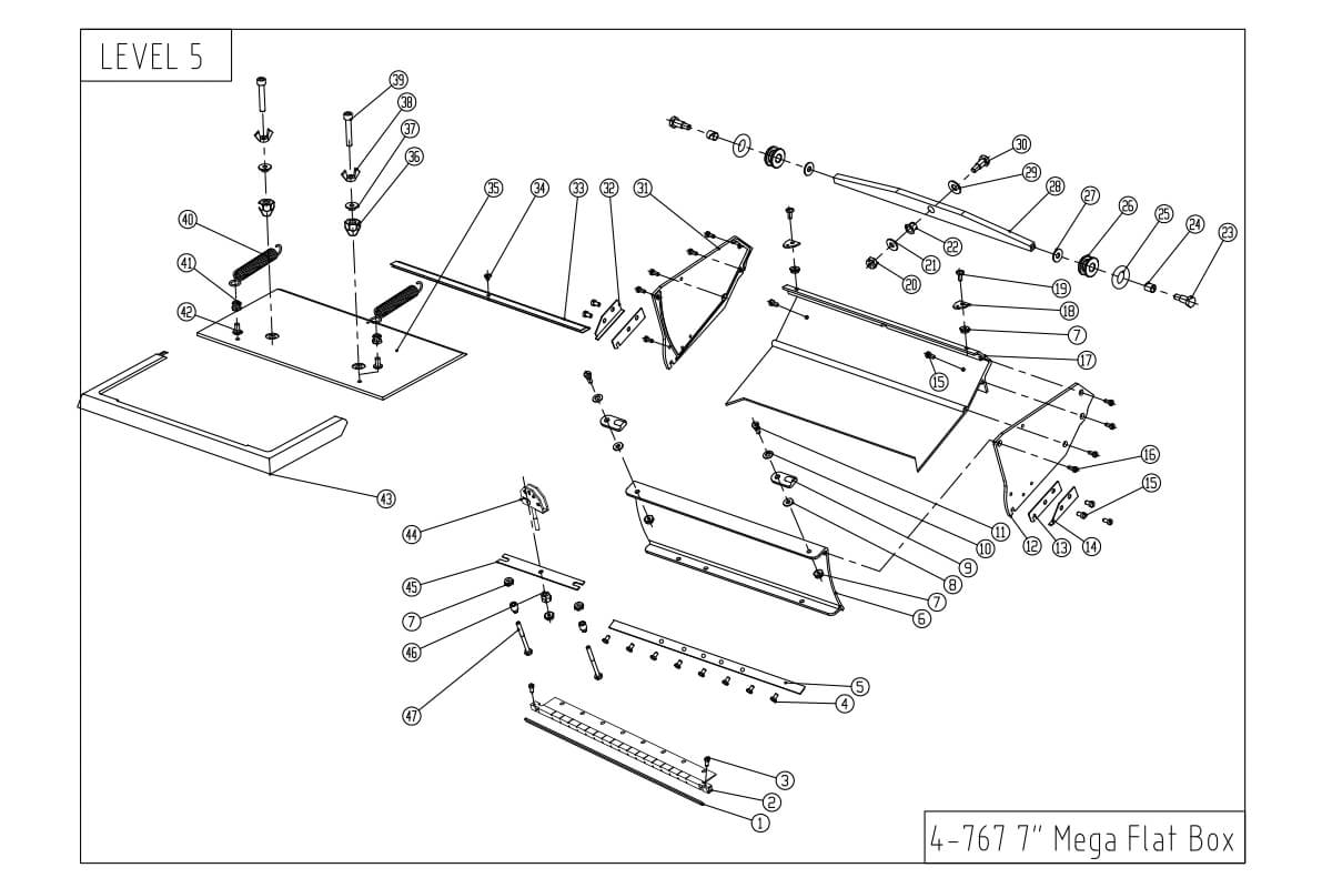 LEVEL5 7-Inch MEGA Capacity Flat Box