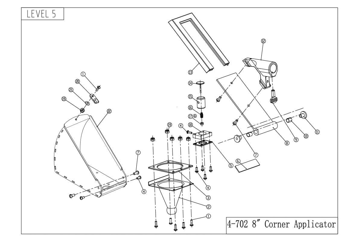 LEVEL5 8-Inch Corner Applicator Box
