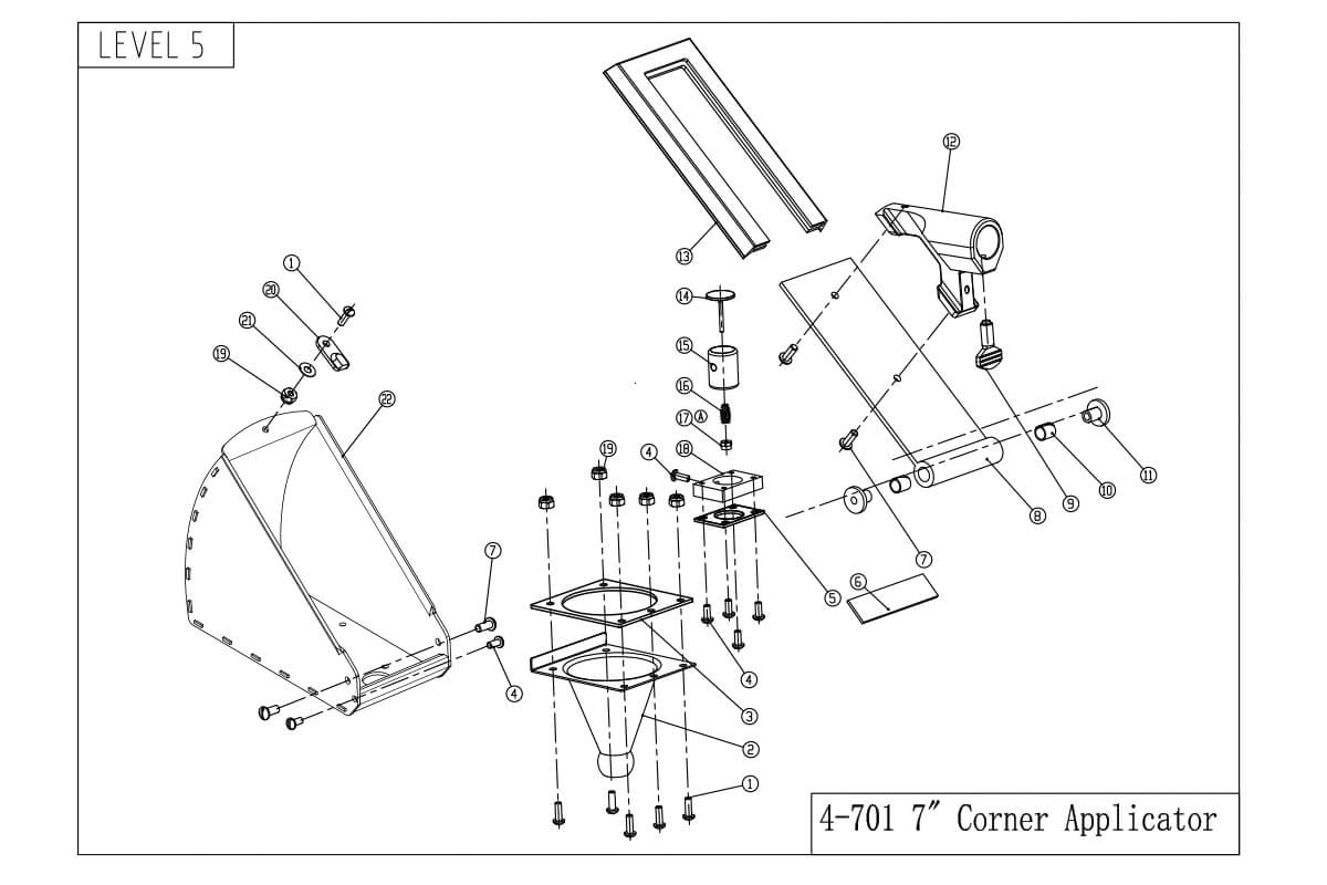 LEVEL5 7-Inch Corner Applicator Box