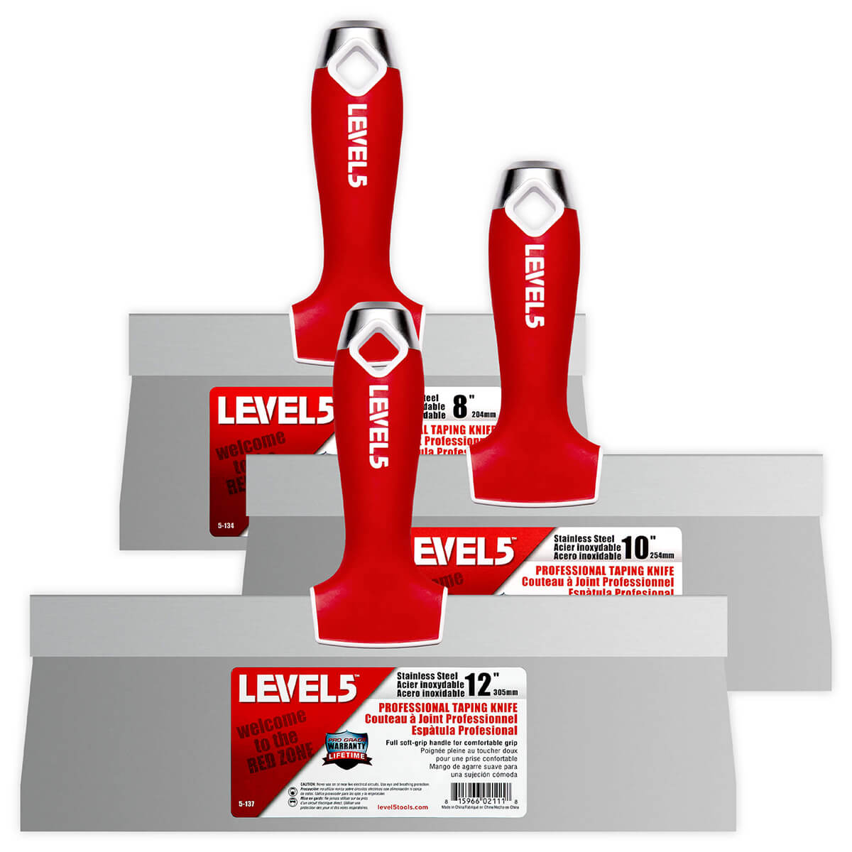 LEVEL5 Stainless Steel Taping Knife Set | 5-619