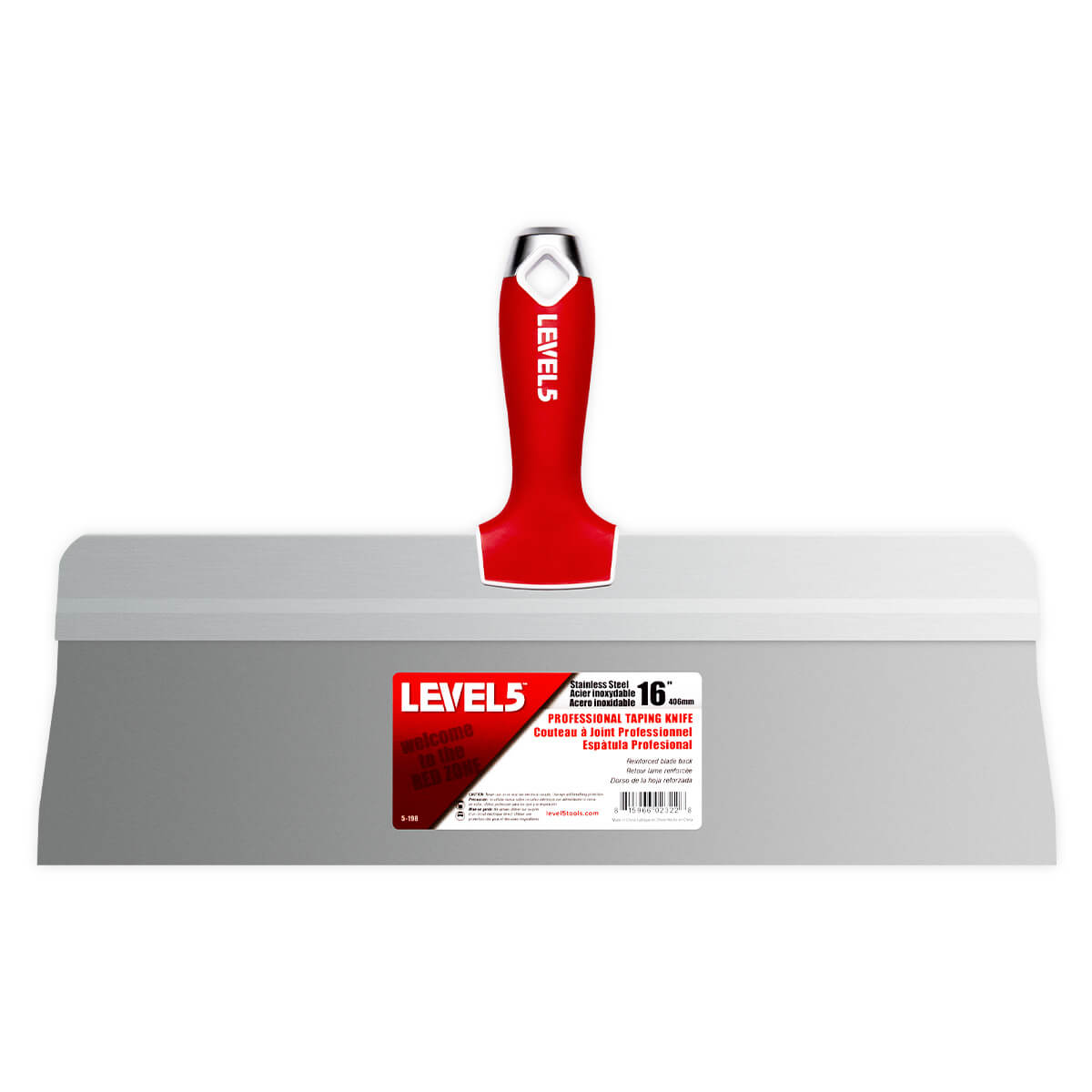 L5 16-Inch Big Back Stainless Taping Knife + Soft Grip Handle | 5-198